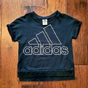 Adidas Big Girls Short Sleeve Sweatshirt - L
